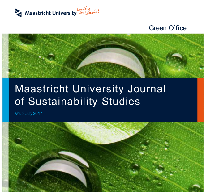 Maastricht University Journal of Sustainability Studies 20017