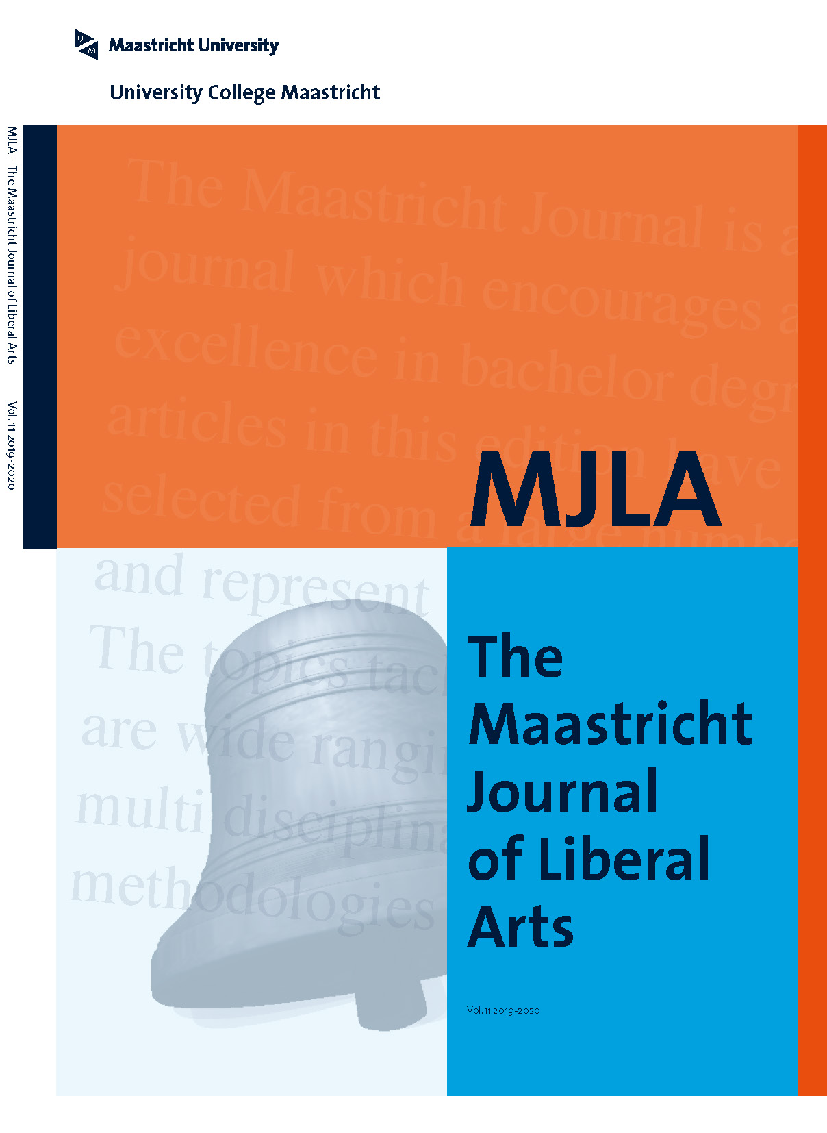 Front cover of the 2019 edition of the Maastricht Journal of Liberal Arts