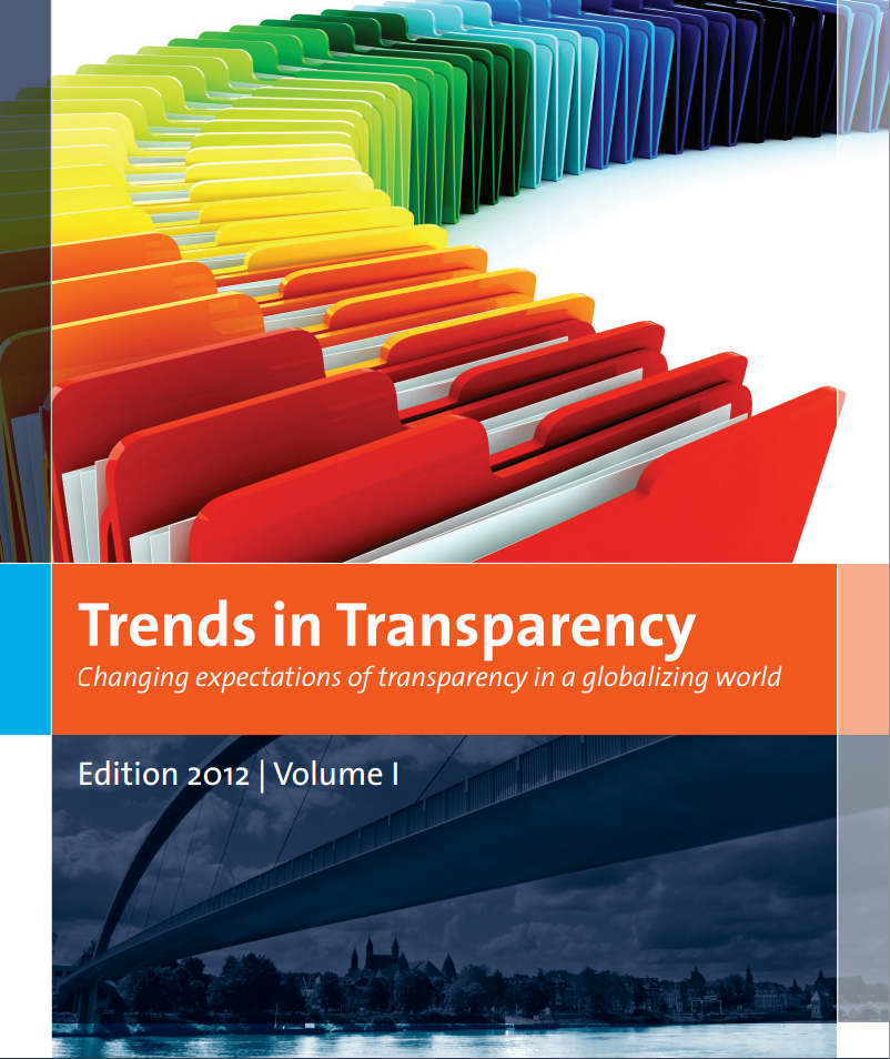 View Vol. 1 (2012): Trends in Transparency