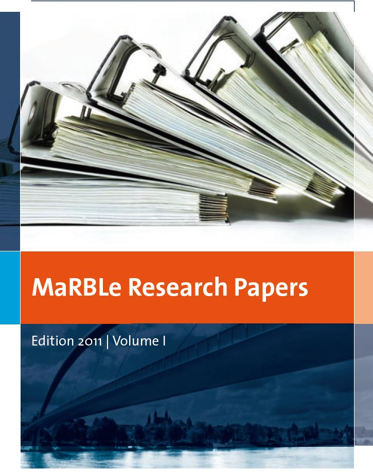 View Vol. 1 (2011): MaRBLe Research Papers