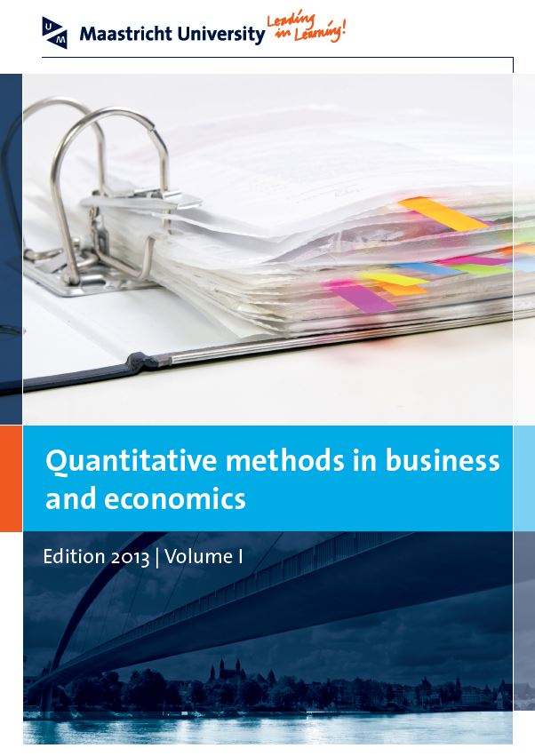View Vol. 1 (2013): Quantitative methods in business and economics