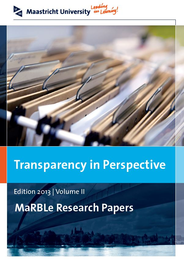 View Vol. 2 (2013): Transparency in Perspective
