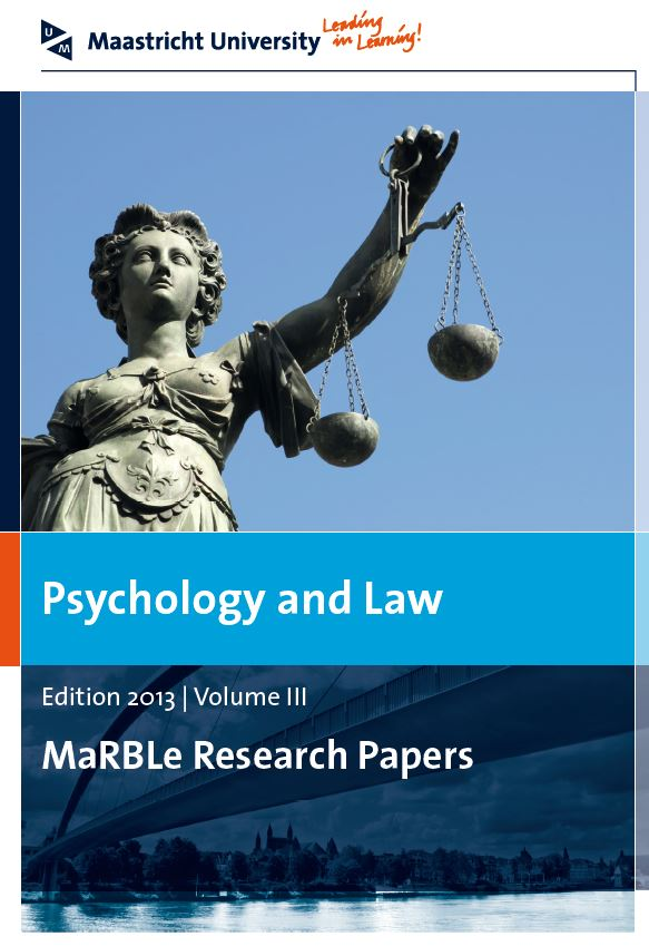 View Vol. 3 (2013): Psychology and Law - MaRBLe Research Papers