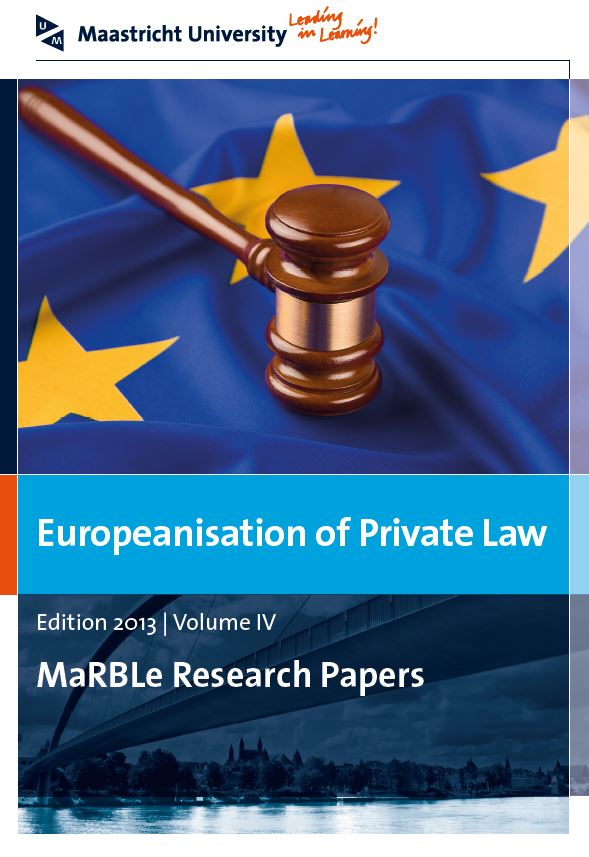 View Vol. 4 (2013): Europeanisation of Private Law