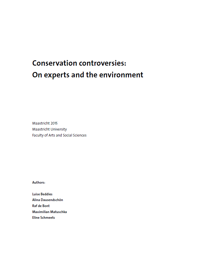 View Vol. 5 (2015): Conservation controversies: On experts and the environment