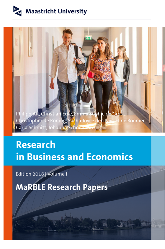 View Vol. 1 (2018): Research in Business and Economics