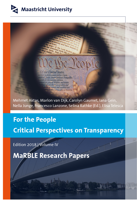 View Vol. 4 (2018): For the People - Critical Perspectives on Transparency
