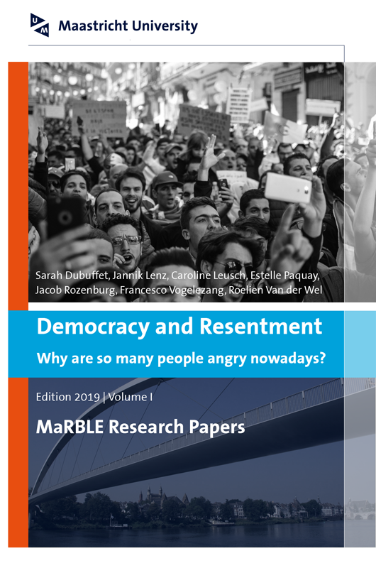 View Vol. 1 (2019): Democracy and Resentment: Why are so many people angry nowadays?